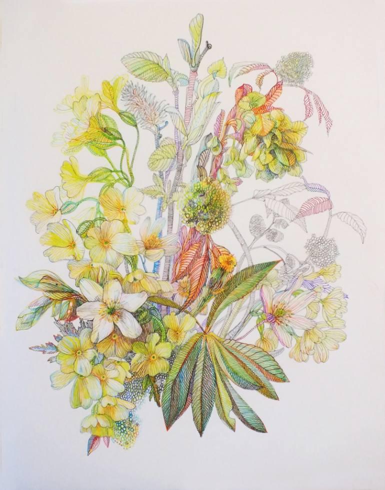 770x979 Saatchi Art Spring Flowers Drawing By Natali Khitrova