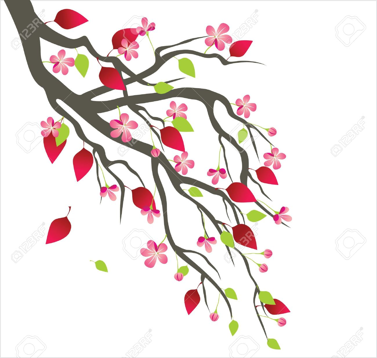 1300x1233 Spring Tree Blossom Royalty Free Cliparts, Vectors, And Stock