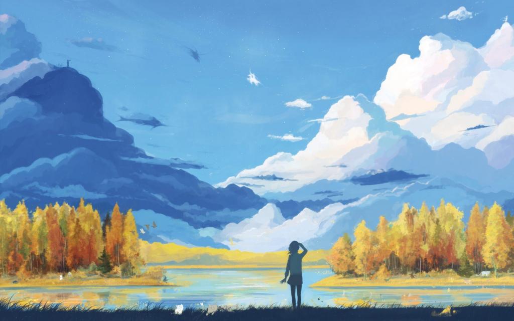 1024x640 Spring Landscape Drawing Landscape Color Drawing Hd Wallpaper