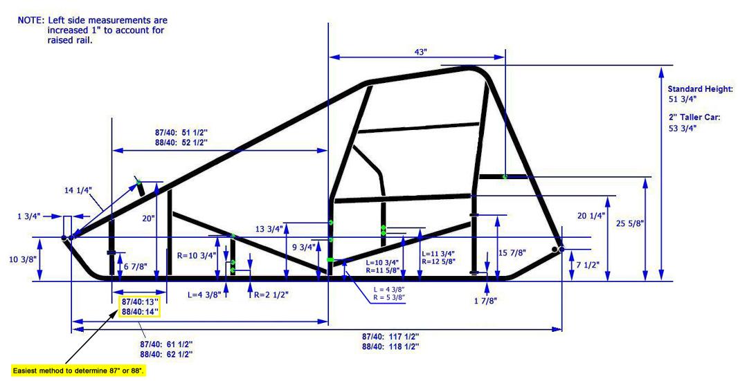 1066x551 New Xxx Race Co Sprint Car Chassis Kit A,8840 Standard Ebay