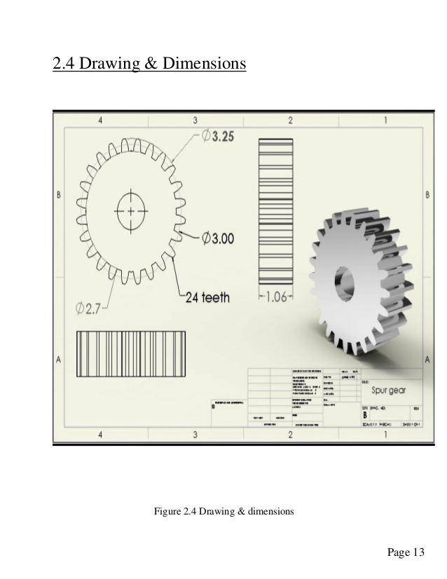 Spur Gear Drawing at GetDrawings com   Free for personal use