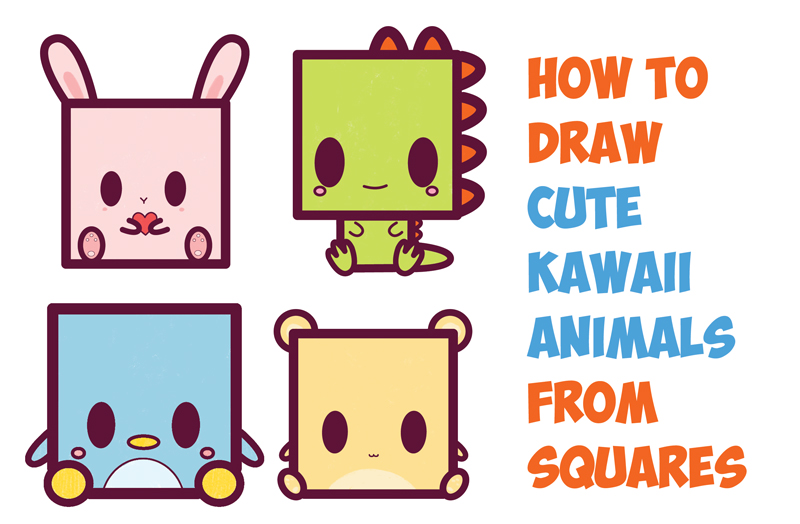 800x524 How To Draw Cute Kawaii Chibi Cartoon Characters From The Square