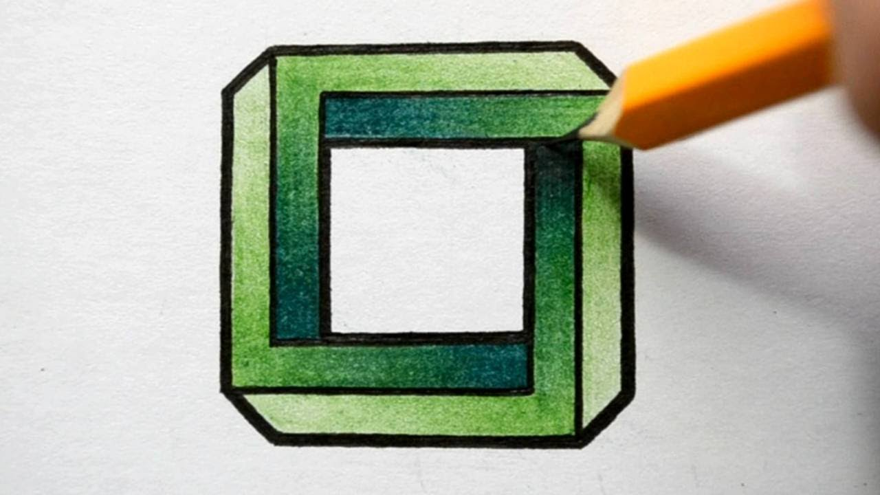 1280x720 How To Draw An Impossible Square