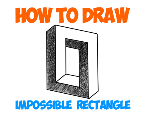 500x397 How To Draw An Impossible Square Or Rectangle Easy Step By Step