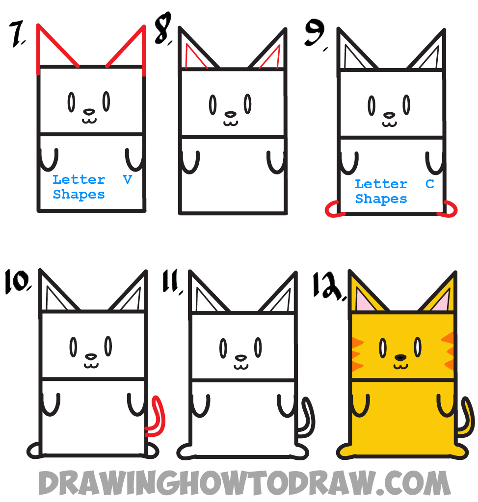 974x1024 Huge Guide To Drawing Cartoon Characters From Uppercase Letter E