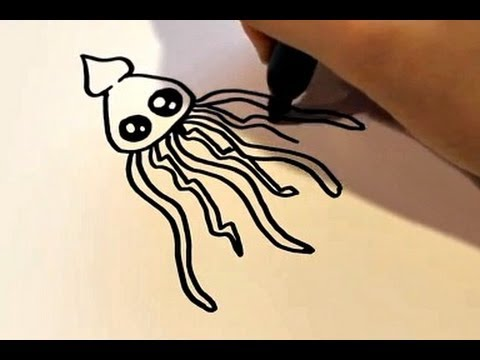 480x360 How To Draw A Cartoon Squid