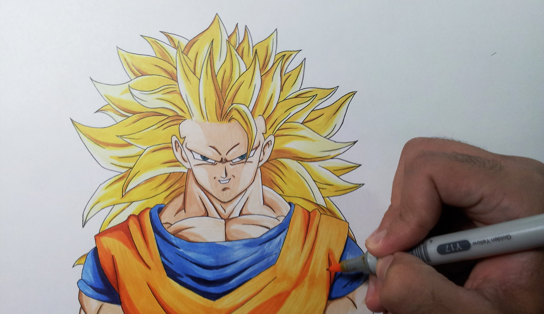 3000x1731 Easy Pencil Sketch Goku Super Saiyan How To Draw Goku Super Saiyan