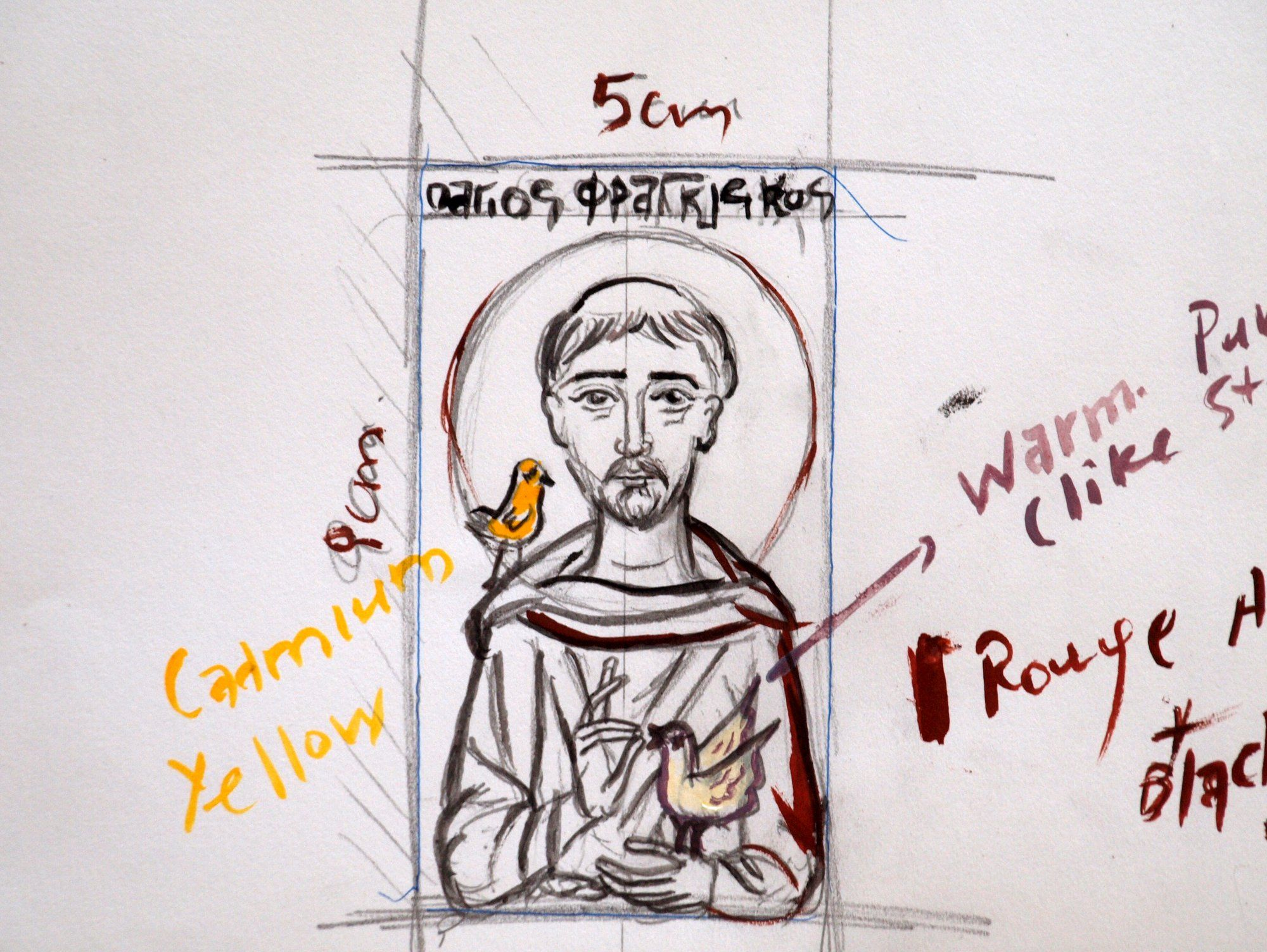 2000x1503 First Drawing For St Francis Of Assisi Tracing Icon Resources