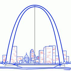236x236 City Of St Louis Downtown With Gateway Arch At Twilight, Missouri