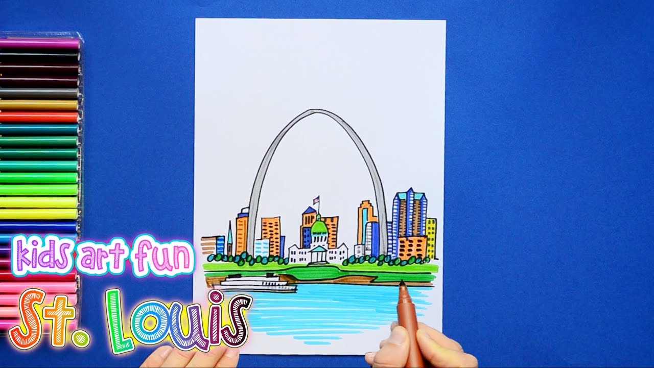 1280x720 How To Draw And Color The Gateway Arch, St. Louis, Missouri