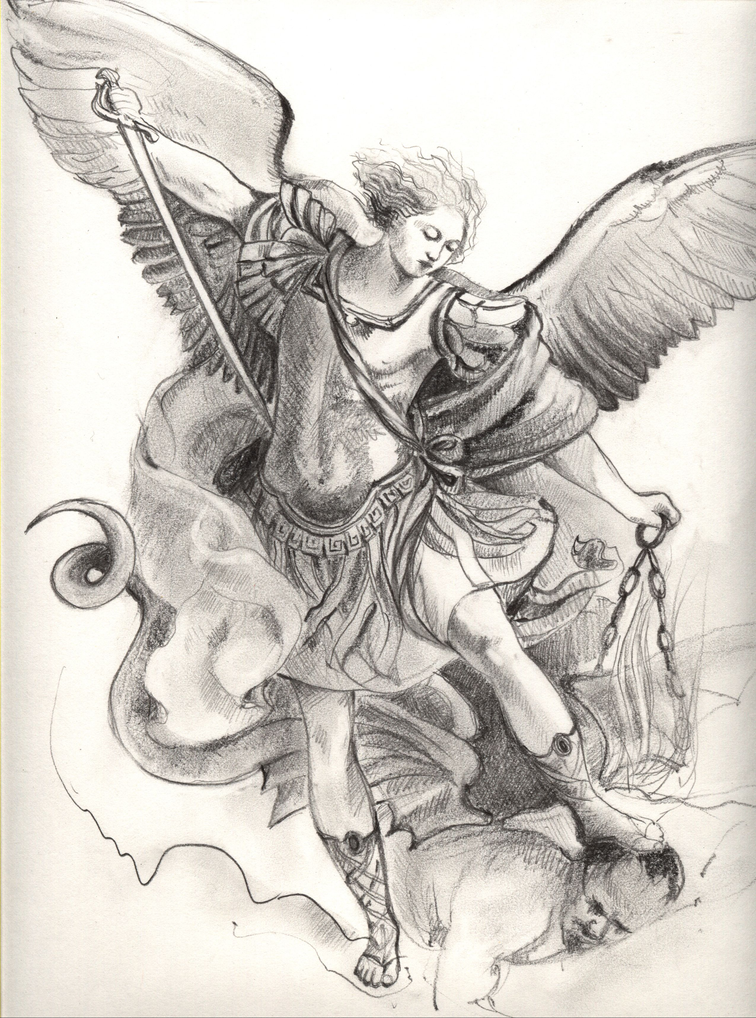 2550x3431 Image Detail For St. Michael The Archangel Black And Whites
