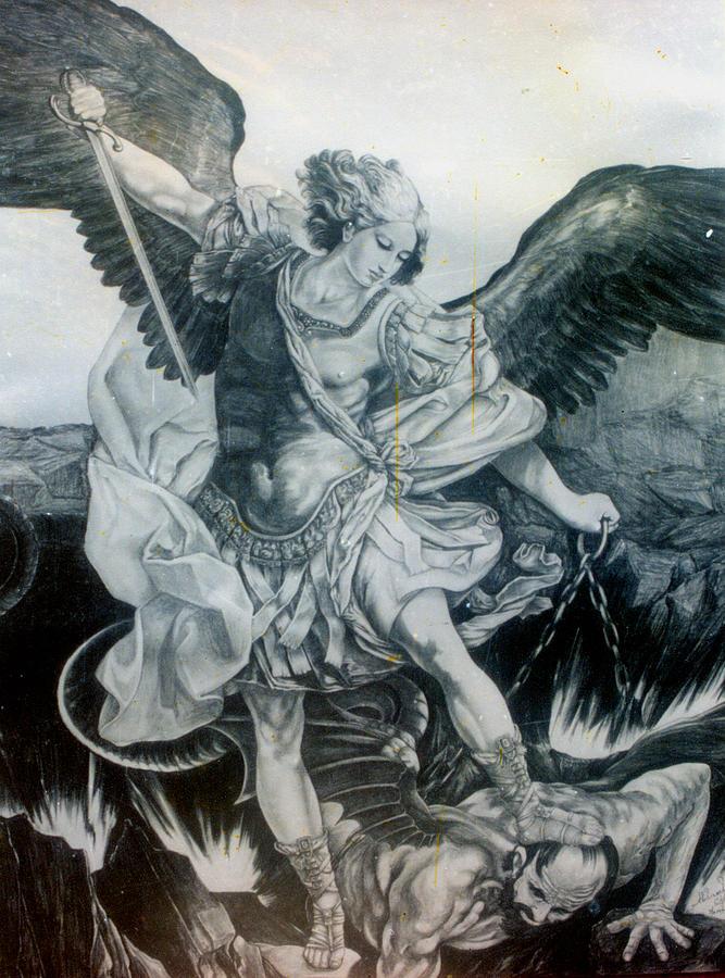 667x900 Michael Archangel Drawing By Abhinash Chhetri
