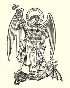 236x296 St Michael Defeats The Devil Coloring