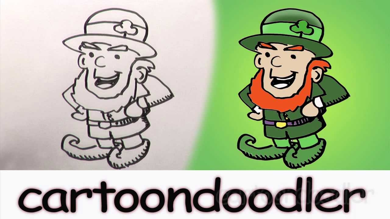 1280x720 How To Draw A Leprechaun. How To Draw A St. Patrick's Day