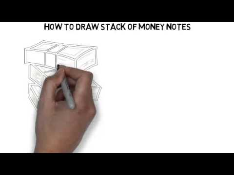 480x360 How To Draw Stack Of Money Notes