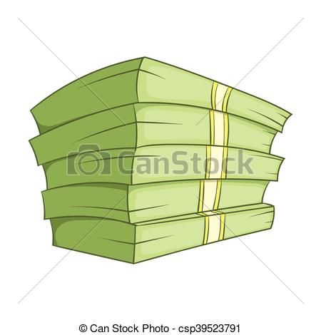 450x470 Stack Of Money Icon, Cartoon Style. Stack Of Money Icon In Eps