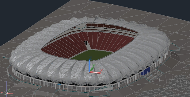 620x315 3d Autocad Drawings Stadium 3d Stadium Is A Work In Autocad