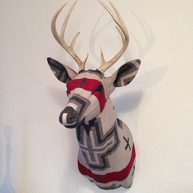 630x630 Modern Fabric Stag's Head Chase Halland