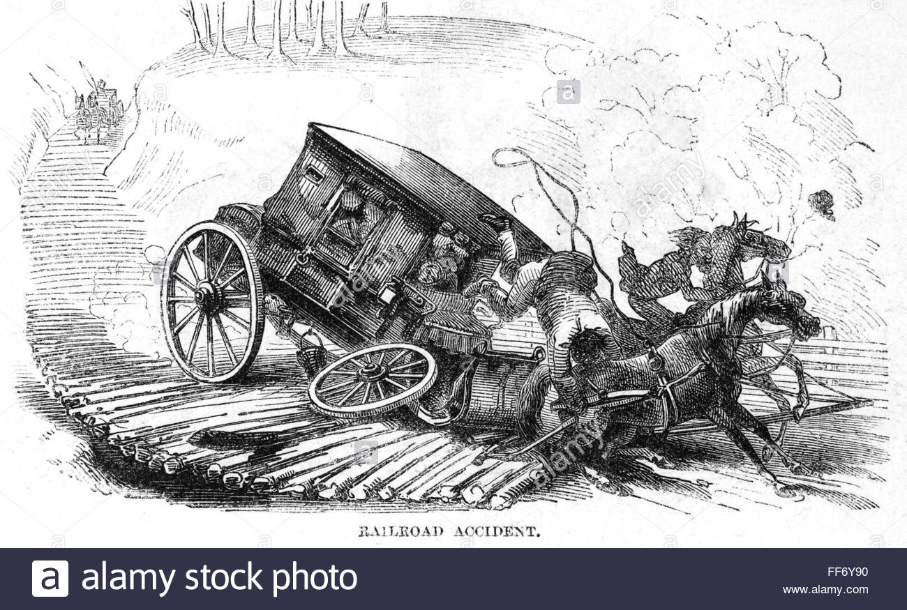 1300x875 Stagecoach Accident, 1856. Na Mishap On A Corduroy Road Near
