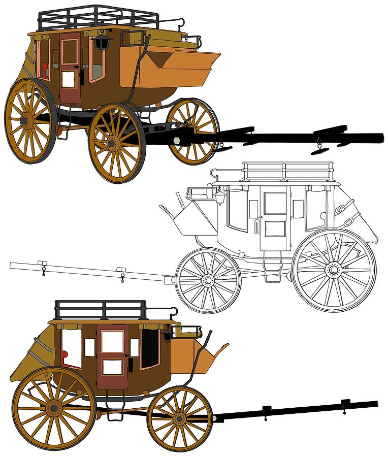 764x900 Stagecoach Without Horses