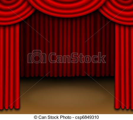 450x407 How To Draw Stage Curtains Step By