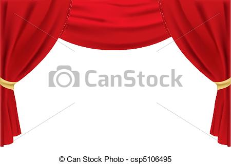 450x320 Illustration Of Stage Curtain On Isolated Background Clipart