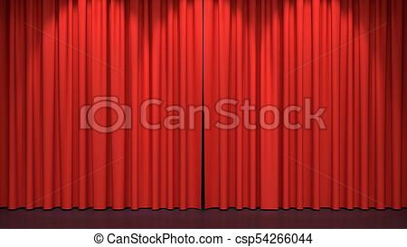 450x273 Red stage curtains. luxury red velvet drapes, silk drapery