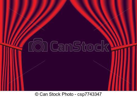 450x319 Vector red velvet theater curtains vectors illustration