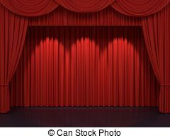 240x195 Red Stage Curtains. Luxury Red Velvet Drapes, Silk Drapery
