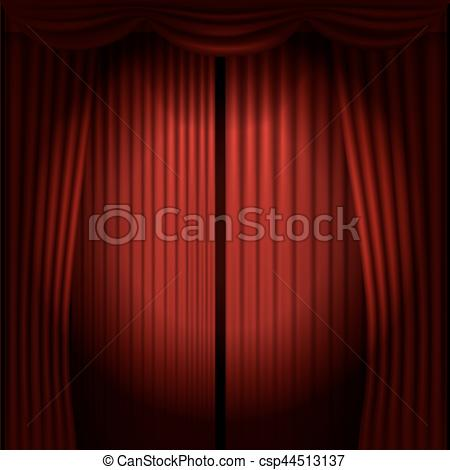 450x470 Stage Curtains With Spot Light Vector Illustration Vectors