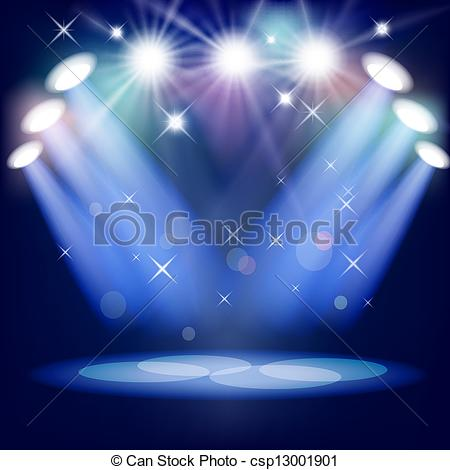 450x470 Stage Light. Mesh.this File Contains Transparency. Vector Clipart