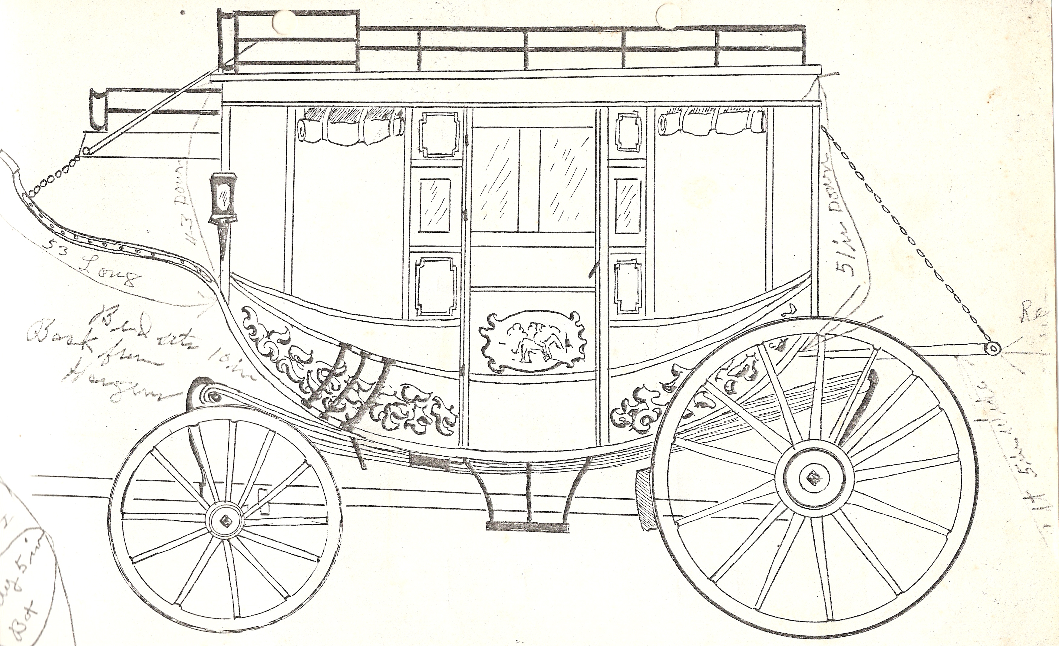 3498x2135 From Claude#39s stagecoach blueprints Wheels amp Moonshine