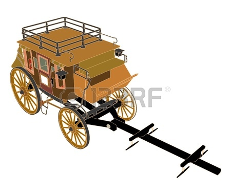 450x381 Western Stagecoach Silhouette Drawing Royalty Free Cliparts