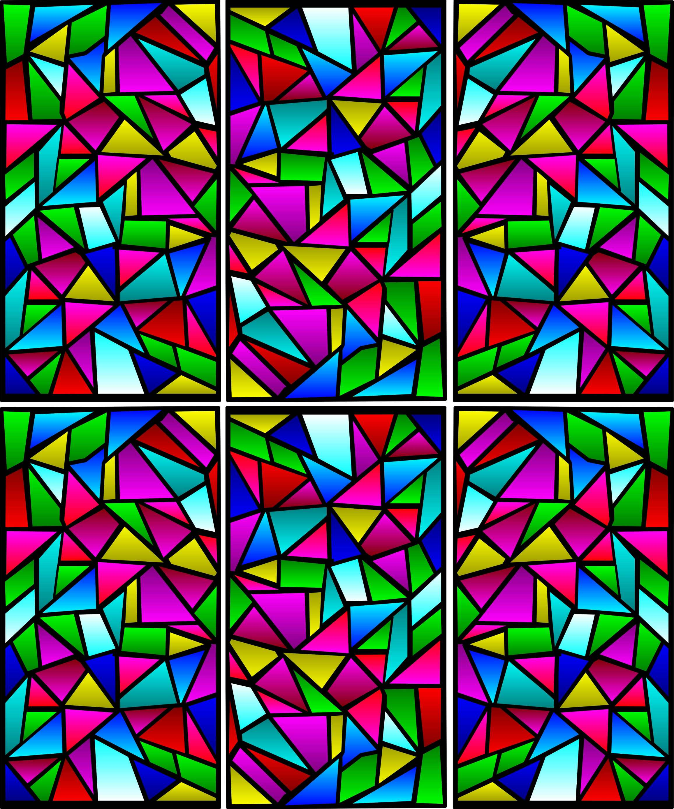 2313x2777 Game Poem 42 Stained Glass Gizmet Game Poems