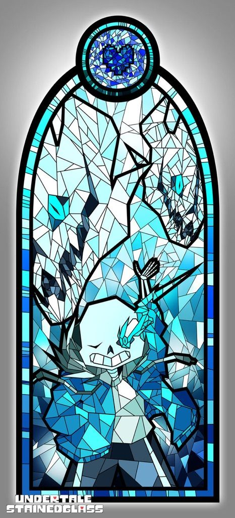 466x1024 Kindness Stained Glass Drawing! Undertale Amino