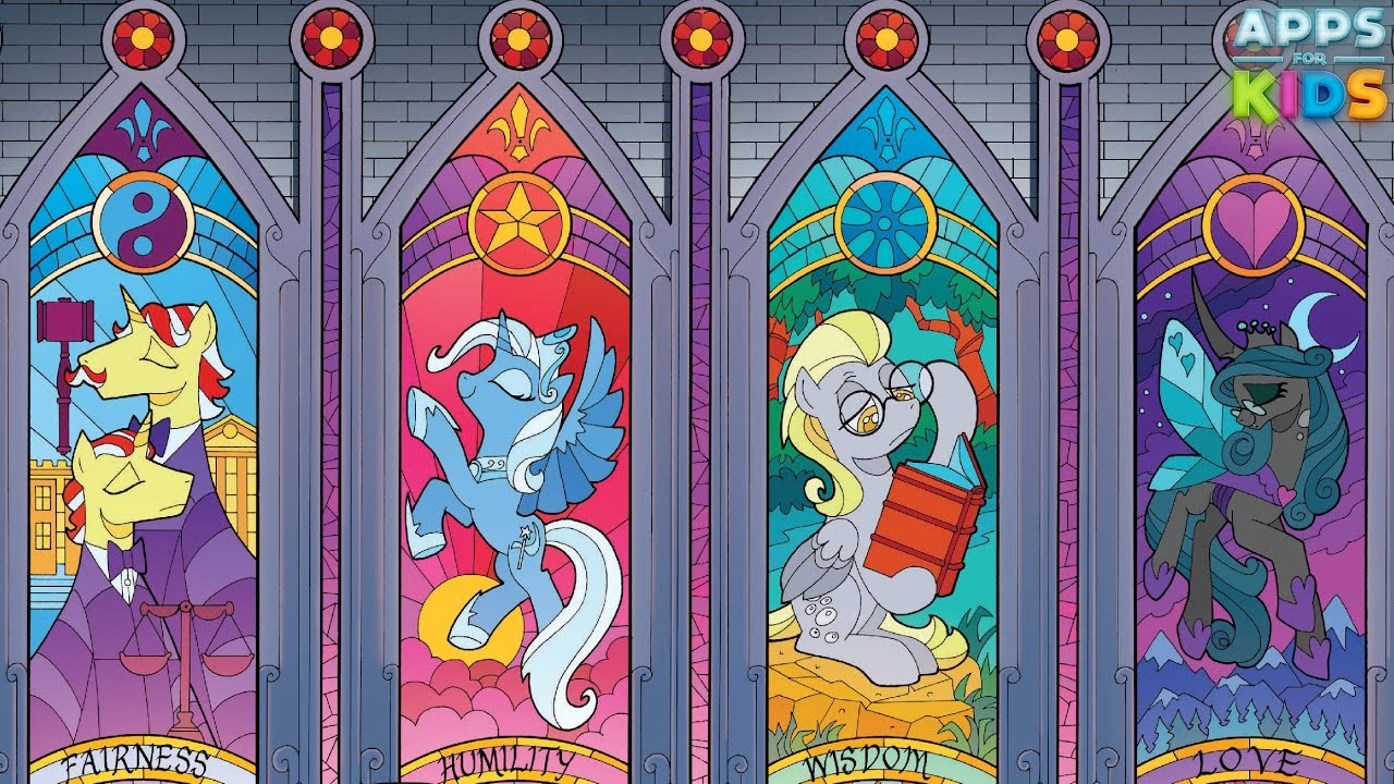 1280x720 My Little Pony Stained Glass Window Coloring Book