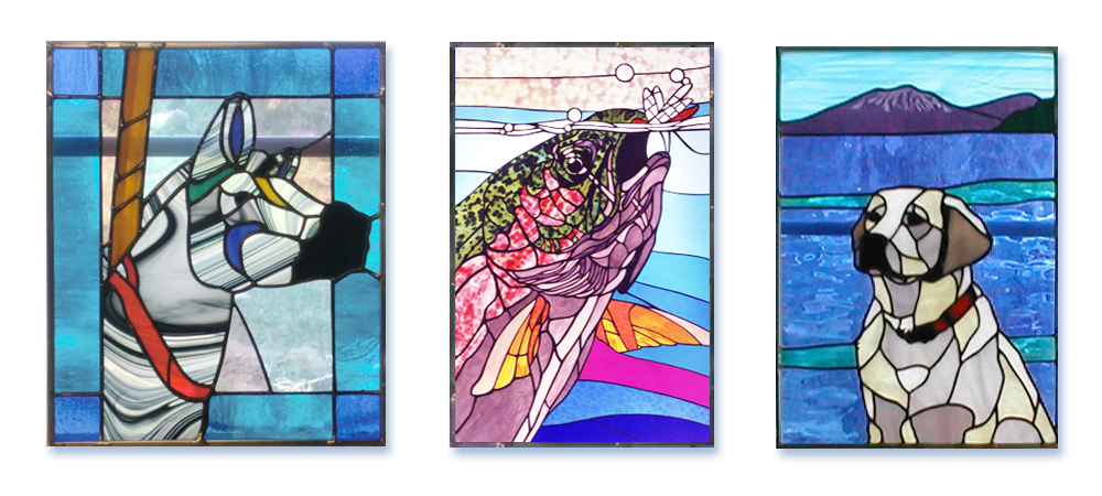 1000x450 Rocky Mountain Art, Stained Glass, Drawing