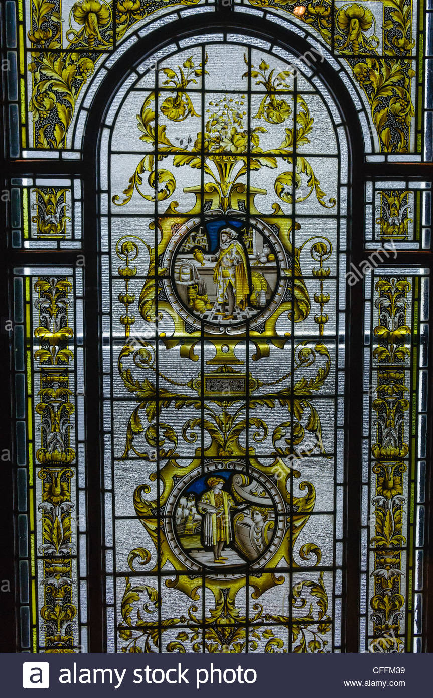 863x1390 Stained Glass Window Taken From The Harland And Wolff Drawing