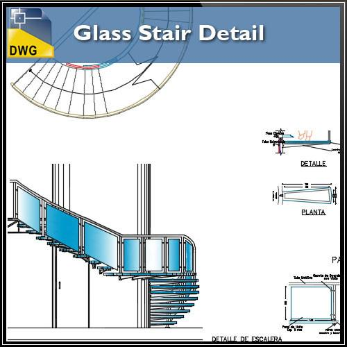 500x500 Glass Stair Details In Autocad Dwg Files Cad Design Free Cad