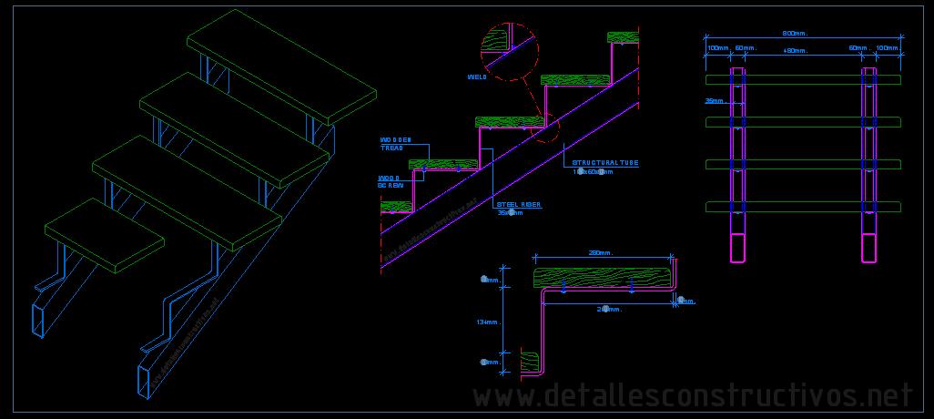 1026x460 Steel Stair Details