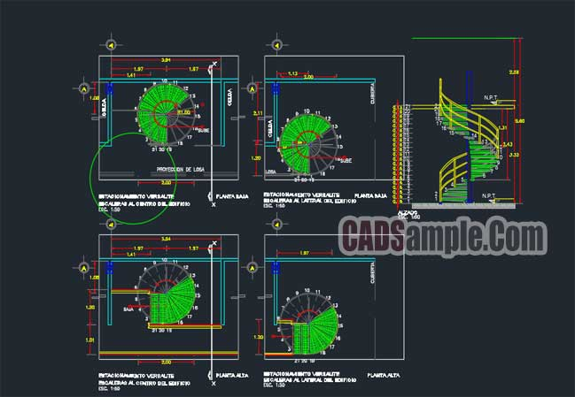 649x449 Spiral Staircase Autocad Detail Drawings