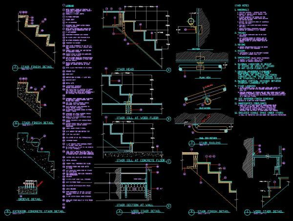 Staircase Detail Drawing at GetDrawings com | Free for