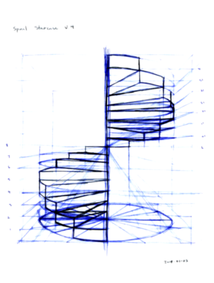 723x954 Great Spiral Staircase Drawing For Contemporary Building