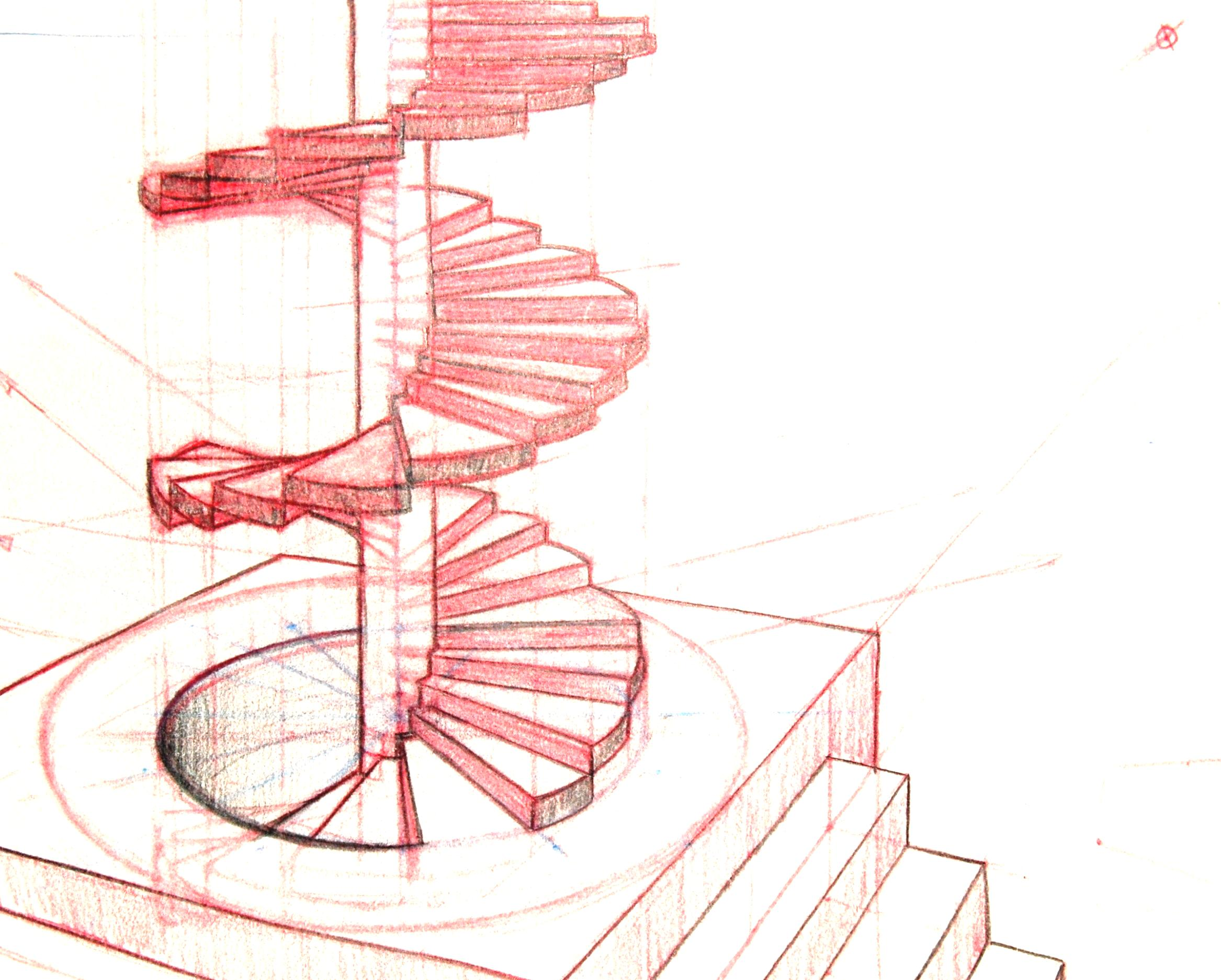 2334x1874 Great Staircase Drawing With Modern Stainless Steel Railing