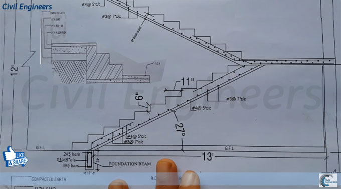 680x378 Reading Drawing For Rcc Staircase How To Read Structural Drawing