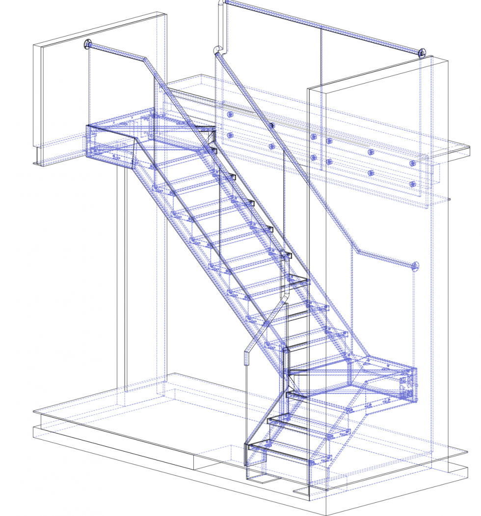 980x1050 Stair Technical Drawing Diagrams, Drawings Amp Models