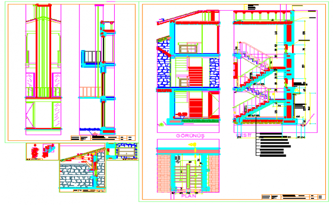 650x400 Section Drawing Of House Design Drawing