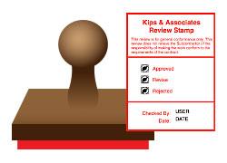 paid stamp sample