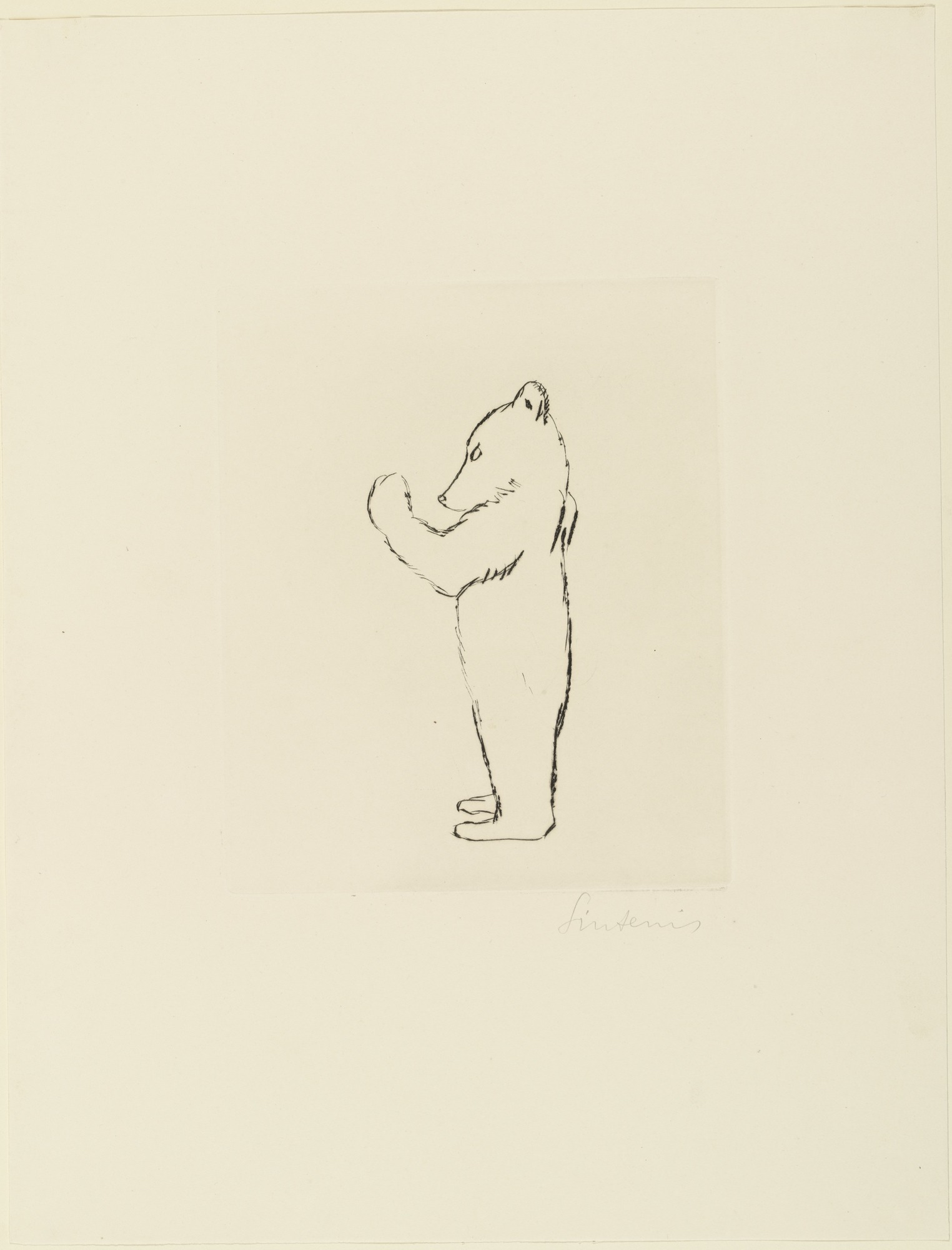 1524x2000 Moma The Collection Sintenis. Standing Bear Cub