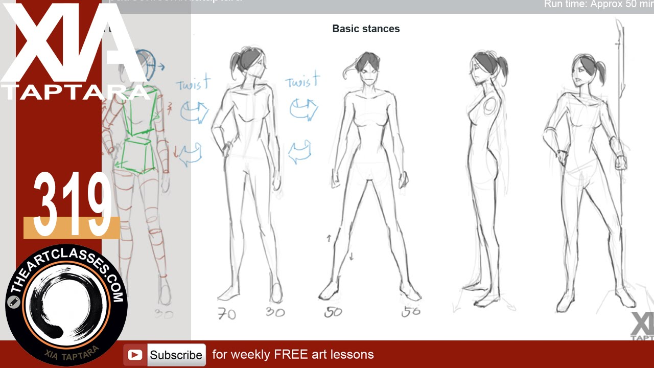 1280x720 Drawing Natural Standing Poses Tutorial